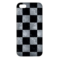 Square1 Black Marble & Gray Metal 2 Iphone 5s/ Se Premium Hardshell Case