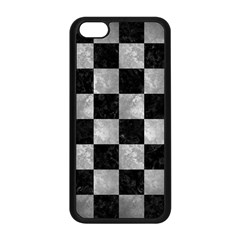 Square1 Black Marble & Gray Metal 2 Apple Iphone 5c Seamless Case (black)