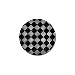 Square2 Black Marble & Gray Metal 2 Golf Ball Marker