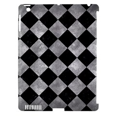 Square2 Black Marble & Gray Metal 2 Apple Ipad 3/4 Hardshell Case (compatible With Smart Cover)