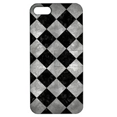 Square2 Black Marble & Gray Metal 2 Apple Iphone 5 Hardshell Case With Stand