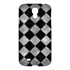 Square2 Black Marble & Gray Metal 2 Samsung Galaxy S4 I9500/i9505 Hardshell Case