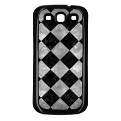Square2 Black Marble & Gray Metal 2 Samsung Galaxy S3 Back Case (black)