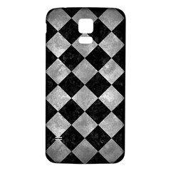 Square2 Black Marble & Gray Metal 2 Samsung Galaxy S5 Back Case (white)