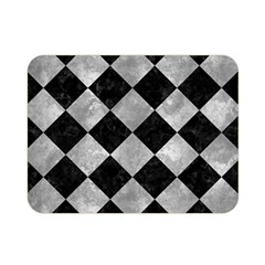 Square2 Black Marble & Gray Metal 2 Double Sided Flano Blanket (mini)