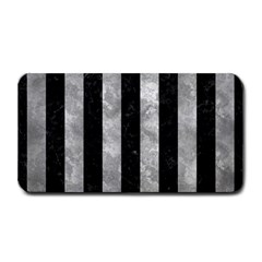Stripes1 Black Marble & Gray Metal 2 Medium Bar Mats