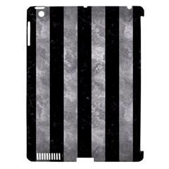 Stripes1 Black Marble & Gray Metal 2 Apple Ipad 3/4 Hardshell Case (compatible With Smart Cover)