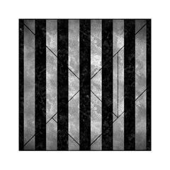 Stripes1 Black Marble & Gray Metal 2 Acrylic Tangram Puzzle (6  X 6 )