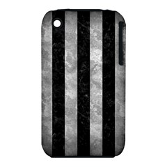 Stripes1 Black Marble & Gray Metal 2 Iphone 3s/3gs