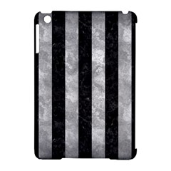 Stripes1 Black Marble & Gray Metal 2 Apple Ipad Mini Hardshell Case (compatible With Smart Cover)