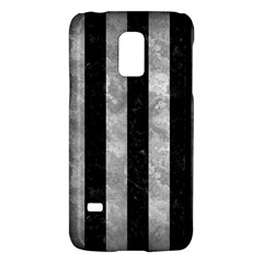 Stripes1 Black Marble & Gray Metal 2 Galaxy S5 Mini