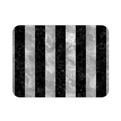 Stripes1 Black Marble & Gray Metal 2 Double Sided Flano Blanket (mini)