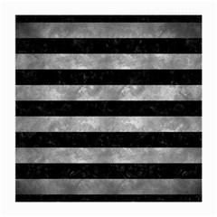 Stripes2 Black Marble & Gray Metal 2 Medium Glasses Cloth (2 Side)