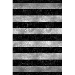 Stripes2 Black Marble & Gray Metal 2 5 5  X 8 5  Notebooks