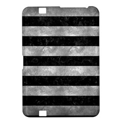 Stripes2 Black Marble & Gray Metal 2 Kindle Fire Hd 8 9