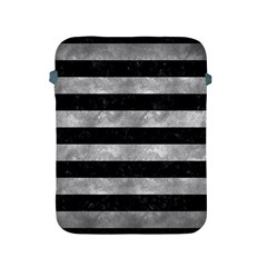 Stripes2 Black Marble & Gray Metal 2 Apple Ipad 2/3/4 Protective Soft Cases