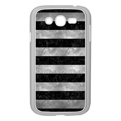Stripes2 Black Marble & Gray Metal 2 Samsung Galaxy Grand Duos I9082 Case (white)