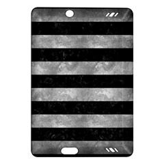 Stripes2 Black Marble & Gray Metal 2 Amazon Kindle Fire Hd (2013) Hardshell Case