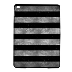 Stripes2 Black Marble & Gray Metal 2 Ipad Air 2 Hardshell Cases