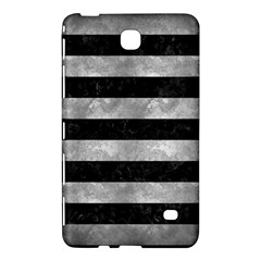 Stripes2 Black Marble & Gray Metal 2 Samsung Galaxy Tab 4 (8 ) Hardshell Case