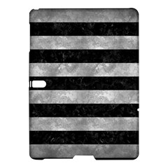 Stripes2 Black Marble & Gray Metal 2 Samsung Galaxy Tab S (10 5 ) Hardshell Case