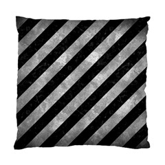 Stripes3 Black Marble & Gray Metal 2 Standard Cushion Case (two Sides)