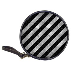 Stripes3 Black Marble & Gray Metal 2 Classic 20 Cd Wallets
