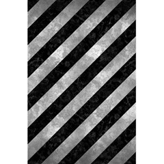 Stripes3 Black Marble & Gray Metal 2 5 5  X 8 5  Notebooks