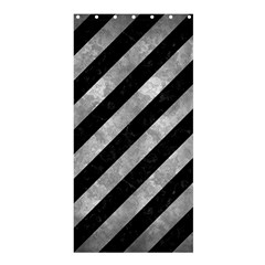 Stripes3 Black Marble & Gray Metal 2 Shower Curtain 36  X 72  (stall)