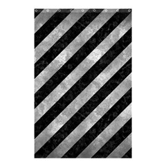 Stripes3 Black Marble & Gray Metal 2 Shower Curtain 48  X 72  (small)