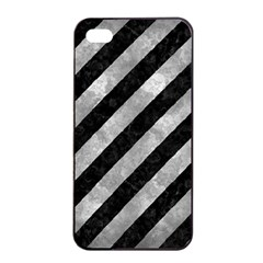 Stripes3 Black Marble & Gray Metal 2 Apple Iphone 4/4s Seamless Case (black)