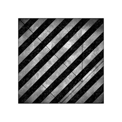 Stripes3 Black Marble & Gray Metal 2 Acrylic Tangram Puzzle (4  X 4 )