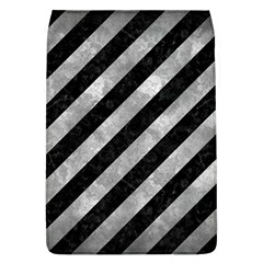 Stripes3 Black Marble & Gray Metal 2 Flap Covers (l)