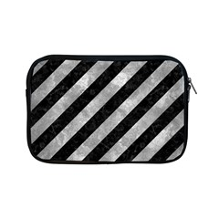 Stripes3 Black Marble & Gray Metal 2 Apple Ipad Mini Zipper Cases