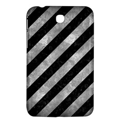 Stripes3 Black Marble & Gray Metal 2 Samsung Galaxy Tab 3 (7 ) P3200 Hardshell Case