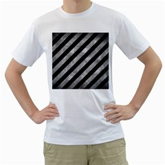 Stripes3 Black Marble & Gray Metal 2 Men s T Shirt (white)