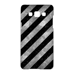 Stripes3 Black Marble & Gray Metal 2 Samsung Galaxy A5 Hardshell Case