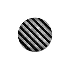 Stripes3 Black Marble & Gray Metal 2 (r) Golf Ball Marker (4 Pack)