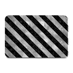 Stripes3 Black Marble & Gray Metal 2 (r) Plate Mats