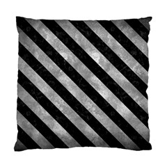 Stripes3 Black Marble & Gray Metal 2 (r) Standard Cushion Case (two Sides)