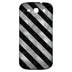 Stripes3 Black Marble & Gray Metal 2 (r) Samsung Galaxy S3 S Iii Classic Hardshell Back Case