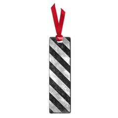 Stripes3 Black Marble & Gray Metal 2 (r) Small Book Marks
