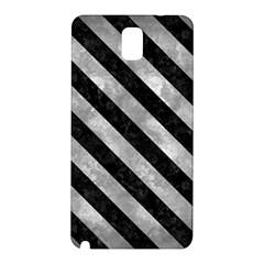 Stripes3 Black Marble & Gray Metal 2 (r) Samsung Galaxy Note 3 N9005 Hardshell Back Case