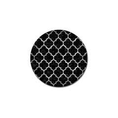 Tile1 Black Marble & Gray Metal 2 Golf Ball Marker (10 Pack)
