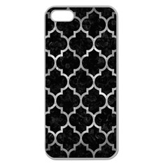 Tile1 Black Marble & Gray Metal 2 Apple Seamless Iphone 5 Case (clear)