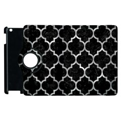 Tile1 Black Marble & Gray Metal 2 Apple Ipad 2 Flip 360 Case
