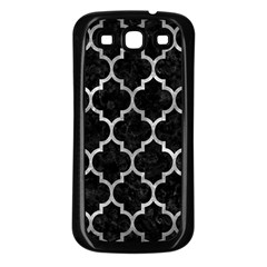 Tile1 Black Marble & Gray Metal 2 Samsung Galaxy S3 Back Case (black)