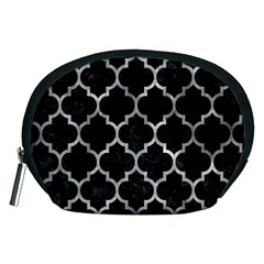 Tile1 Black Marble & Gray Metal 2 Accessory Pouches (medium)