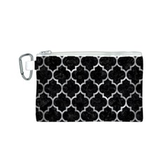 Tile1 Black Marble & Gray Metal 2 Canvas Cosmetic Bag (s)