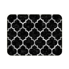Tile1 Black Marble & Gray Metal 2 Double Sided Flano Blanket (mini)